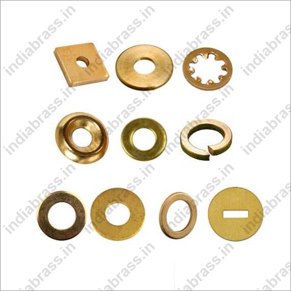 Copper Lock Washer : Brass washers plain copper